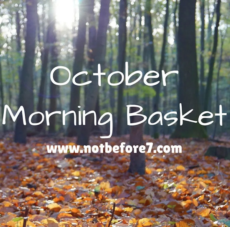 Check out the titles in our October Morning Basket.