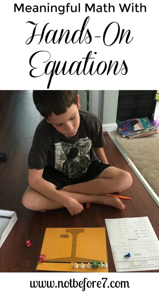 Introduce your children to linear equations in a fun and hands-on way with Hands-On Equations.