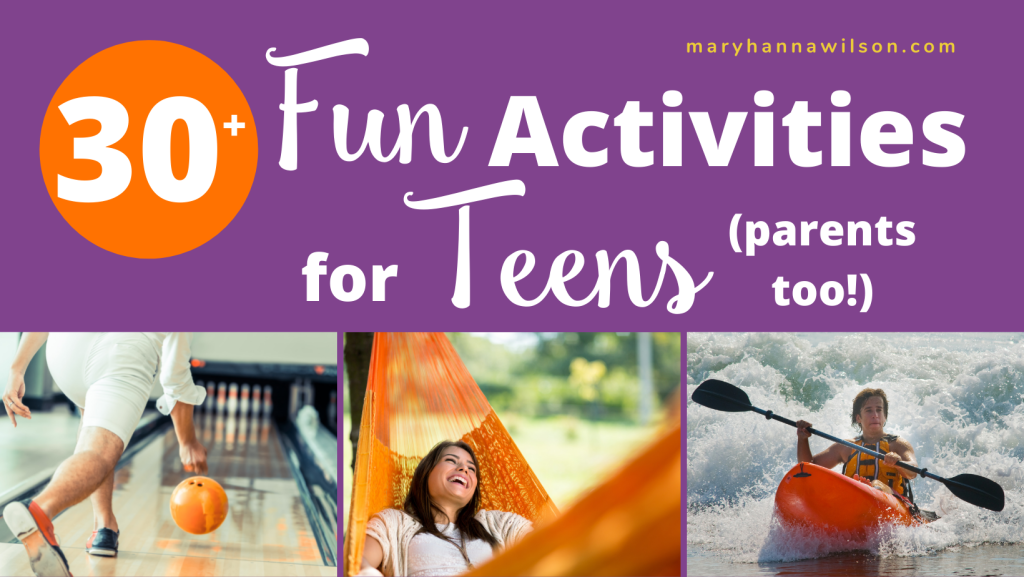 Fun activities for teens and their parents