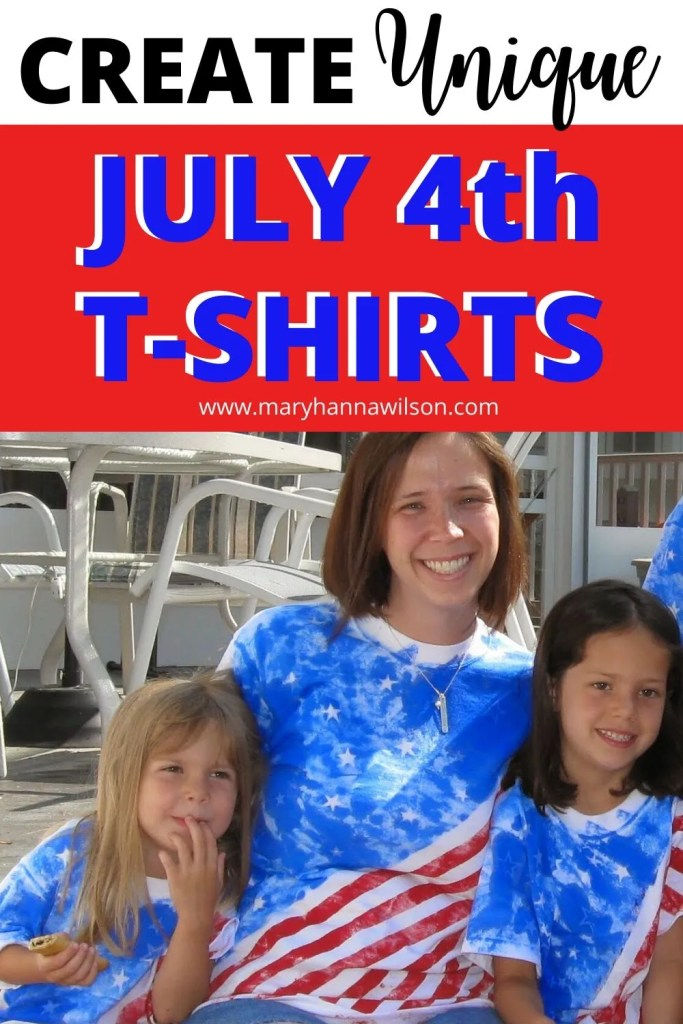 Make your own, unique family Fourth of July T-Shirts this year using basic supplies.