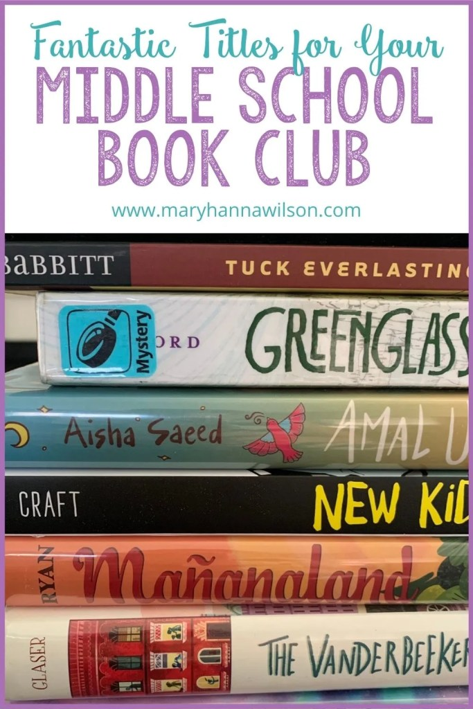 Fantastic books for your middle school book club.
