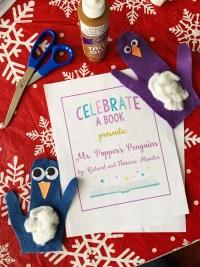Felt penguins made for Mr. Popper's Penguins book club