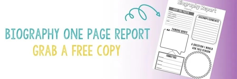 download a FREE Biography Report for kids