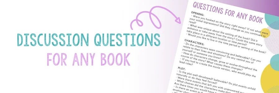 Over 15 discussion questions to ask about any book