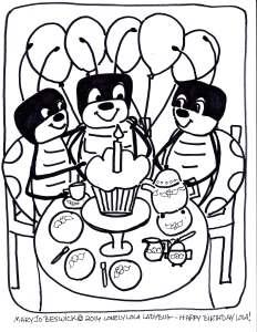Lola Coloring page-4 Happy Birthday Lola!