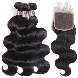brazilian virgin human hair Body Wave bundles