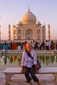 MK at the Taj Mahal, 2011