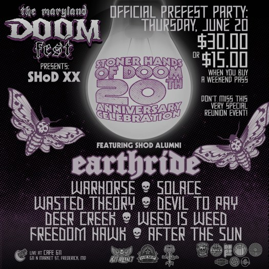 MD Doom Fest PRE-PARTY/SHoD 20th Anniversary - Thursday June 20th