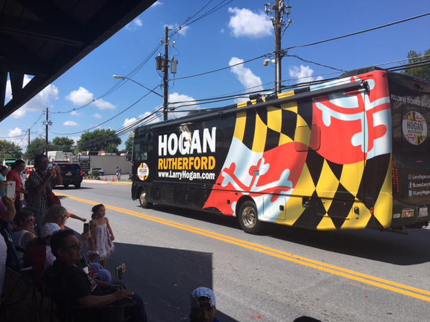 Hogan campaign bus
