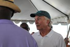 Comptroller Peter V.R. Franchot (D) at the 2019 Tawes Crab and Clam Feast.