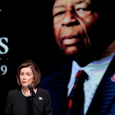 Speaker of the House Nancy Pelosi (D-Calif.) speaks during funeral services for Rep. Elijah E. Cummings. Two days earlier, she had spoken at the funeral for her brother, former Baltimore mayor Thomas J. D'Alesandro III. AP Photo/Julio Cortez, Pool