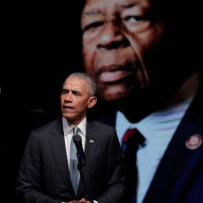 Former President Barack Obama speaks during funeral services for the late U.S. Rep. Elijah Cummings. (AP Photo/Julio Cortez, Pool)