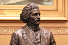 A statue of abolitionist Frederick Douglass was unveiled in the Maryland State House earlier this year. Photo by Danielle E. Gaines.