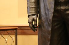 The hands of the Frederick Douglass statue installed in Annapolis were modeled by one of his descendants. Photo by Danielle E. Gaines.