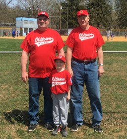Left to Right: Kevin Crabtree Jr. and his dad, Kevin Crabtree Sr. (deceased), partnered to coach Crabtree Jr.'s daughter, Alison Crabtree's tee-ball team in 2018. It was the last team Crabtree Sr. would coach before he died of COVID-19 in December 2020. Family photo.