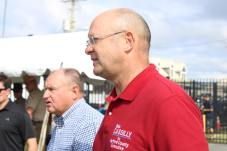Sen. Robert G. Cassilly (R-Harford) at the 2021 J. Millard Tawes Crab and Clam Bake. Cassilly is giving up his senatorial seat, choosing instead to run for Harford County executive during the 2022 election. Photo by Hannah Gaskill.