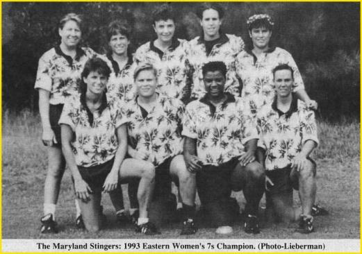 stingers 1993 eastern 7s champion