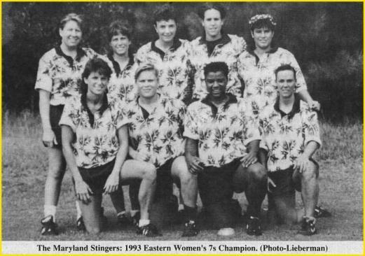 stingers 1993 eastern 7s champion
