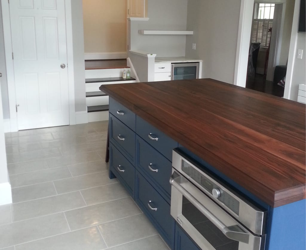 walnut cabinets kitchen moen pull out faucet flat grain island - maryland wood countertops