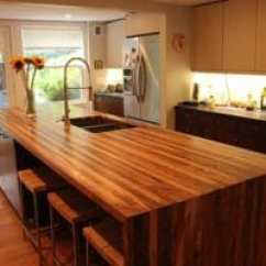 Wood Countertops Kitchen White Distressed Cabinets The Best For Your Is Solely Preference There A To Use
