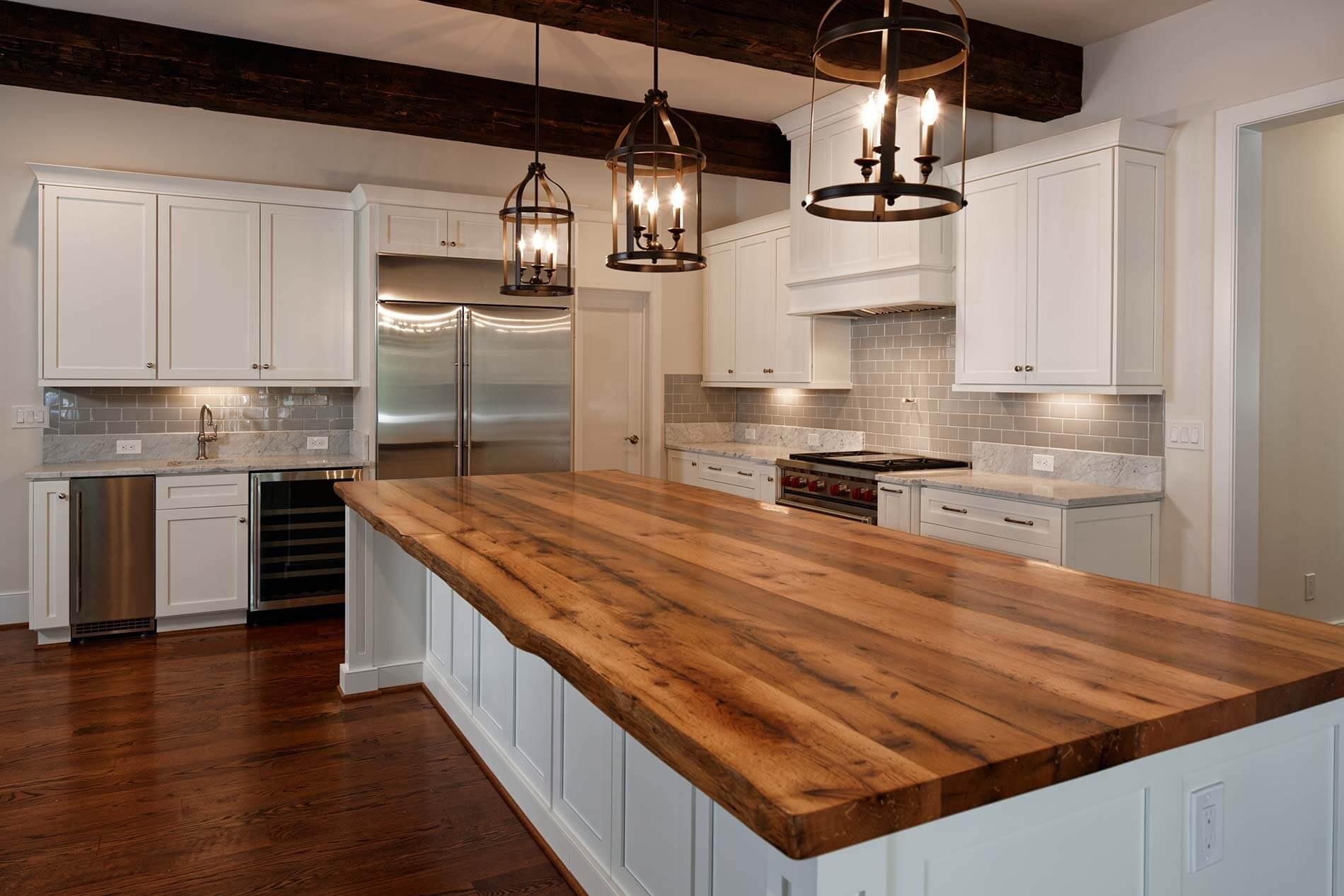 Oak Kitchen Island