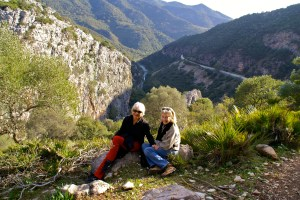 Hiking in the Buitrera Canyon near Colmenar (Andalucia) with my friend Alice Rattenbury, winter 2014