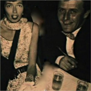 Frannie and Jack Lawlor at the Marine Corps Birthday Ball, Camp Lejeune, NC, 1954
