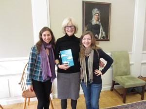 "With Students in ""Lit & Film of the 60s"" Samantha Tager (left) and Maggie Hughes (right)"