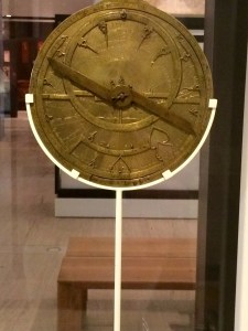 Astrolabe, 1450, in the Museo Arqueológico Nacional, Madrid. Used to chart the stars and calculate time centuries before the clock.