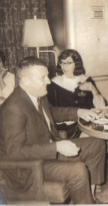 Jack and Frannie on the SS United States, 1965