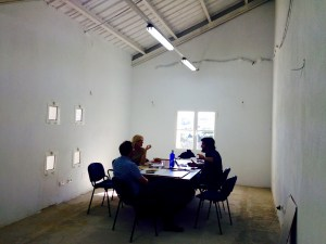 In the new office of Al-Andalus research group, Gaucin