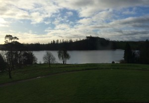Lake Annaghmakerrig, from my room at Tyrone Guthrie Center, in the early morning