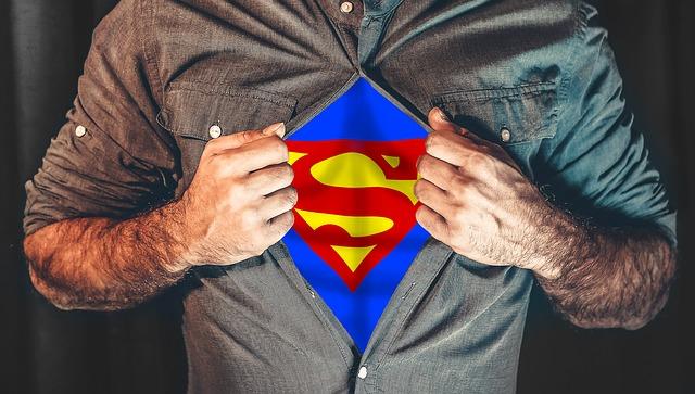 superhero, shirt, tearing