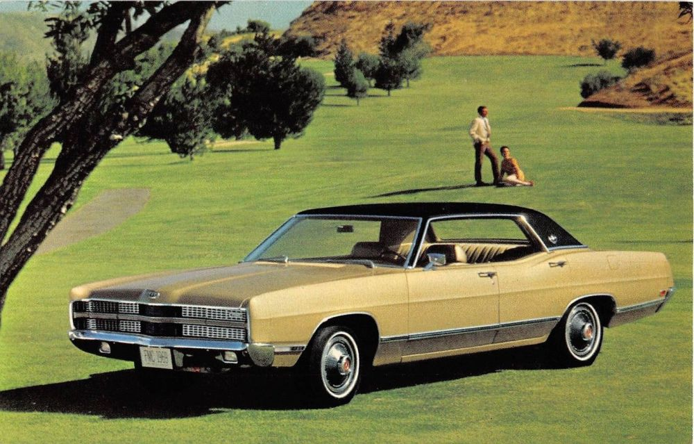 medium resolution of 1969 ford ltd 4 door hardtop vintage postcard y2645 mary l martin ltd postcards