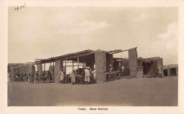 Tokar Sudan Meat Market Real Photo Antique Postcard J59026