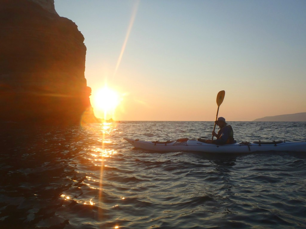 sunset caldera kayak