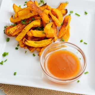 Butternut Squash Fries with Miso Sauce