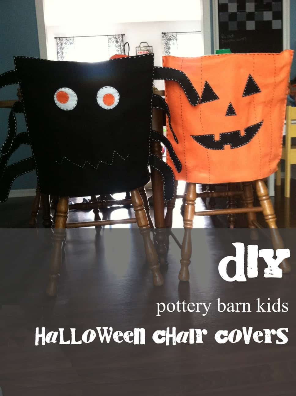 chair covers decorations nash fishing accessories diy pottery barn inspired halloween mary martha mama