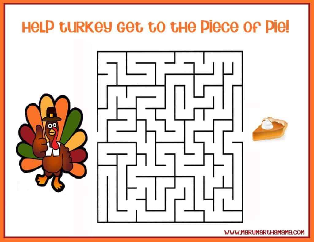 Free Printable Thanksgiving Activities For Kids Mary