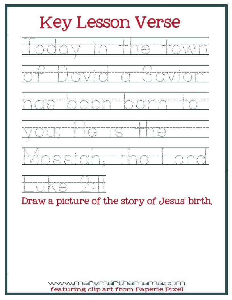hight resolution of Christmas Worksheets for Preschoolers Jesus' Birth – Mary Martha Mama