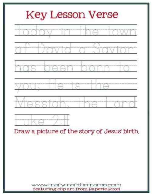 small resolution of Christmas Worksheets for Preschoolers Jesus' Birth – Mary Martha Mama