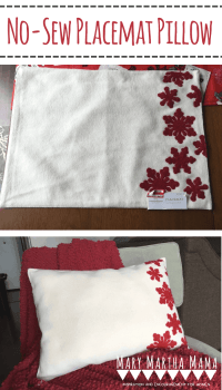 No Sew Placemat Pillow  Mary Martha Mama