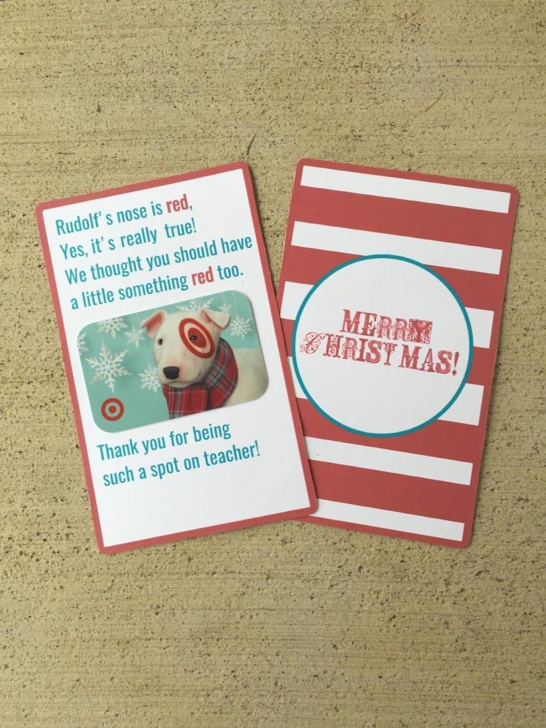 Teacher Christmas Gift Target Gift Card Printable Mary