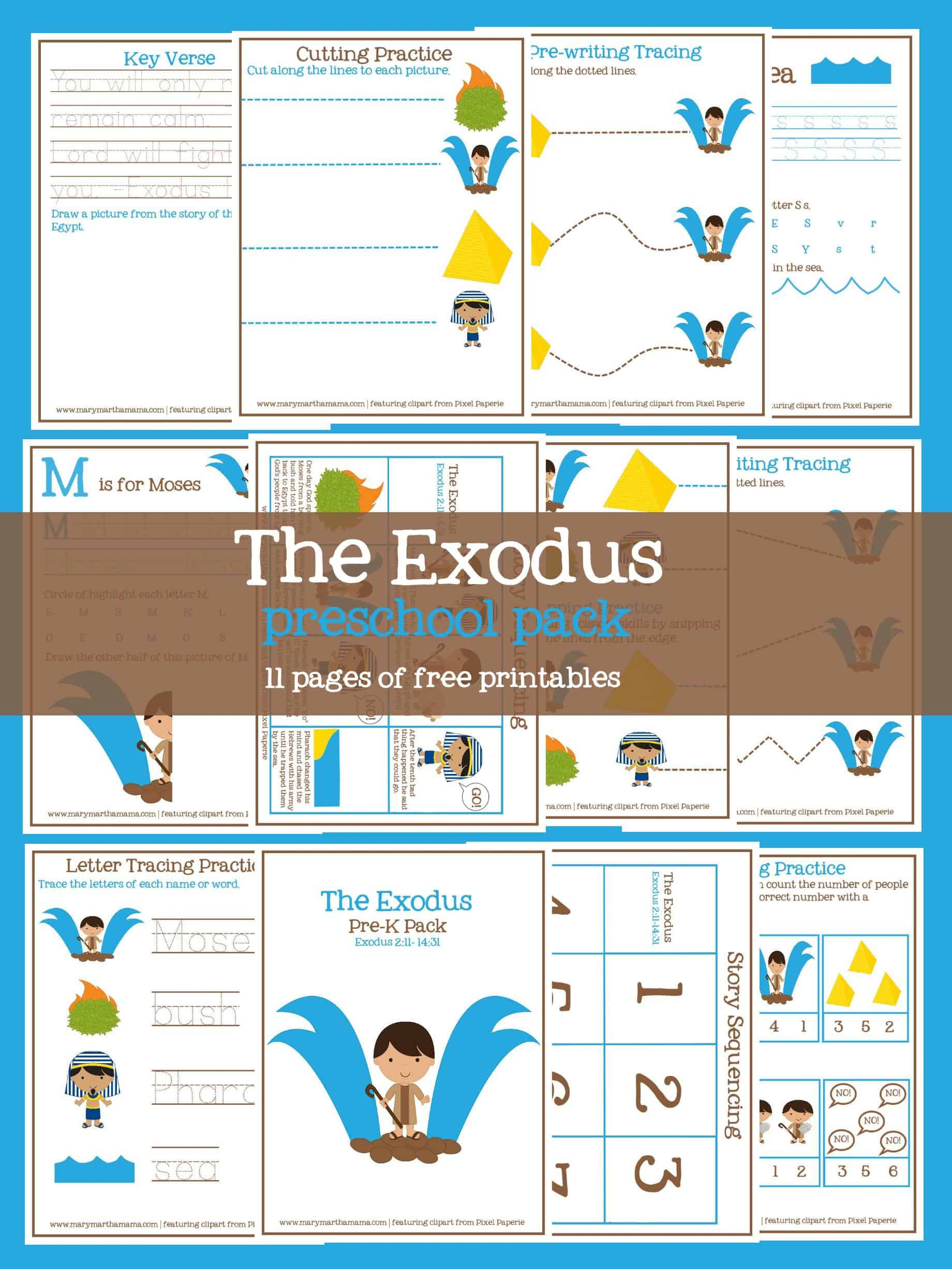 Free Exodus From Egypt Printable Pack For Preschoolers