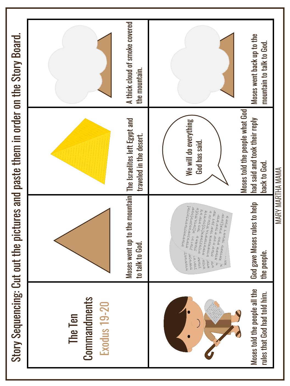 Ten Commandments Preschool Printables Mary Martha Mama