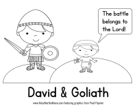 √ David And Goliath Printable Coloring Pages | Free ...