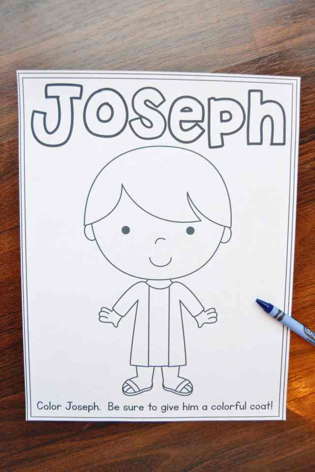 Joseph Coloring Pages (Free Printables!) – Mary Martha Mama