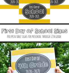 Free Printable First Day of School Signs 2020 – Mary Martha Mama [ 1500 x 1000 Pixel ]