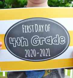 Free Printable First Day of School Signs 2020 – Mary Martha Mama [ 760 x 1140 Pixel ]