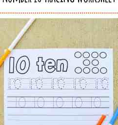 Number 10 Tracing Worksheet – Mary Martha Mama [ 2560 x 1706 Pixel ]